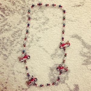 Jewelry - Colorful motorcycle Mardi Gras / party beads